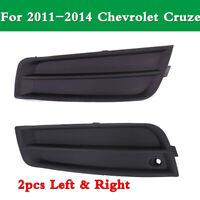 2PCS Left /&Right Front Bumper Fog Lamp Light Cover for 2011-2014 Chevrolet Cruze 94831149 94831150