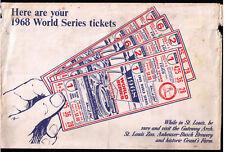 1968 WORLD SERIES St. Louis Cardinals Busch Stadium Will Call TICKET ENVELOPE !