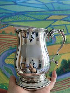 343g Antique Solid Silver Sterling 925 Tankard Mug Cup 1 Pint Birmingham 1942