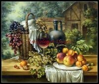 Chart Needlework Embroidery DIY Counted Cross Stitch Patterns - Wine and Fruits