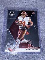 2020 Panini Mosaic Football Antonio Gibson Rookie Card Washington Redskins