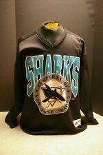 VINTAGE NHL SAN JOSE SHARKS CAMPBELL CONFERENCE HOCKEY JERSEY ADULT LARGE