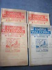 WALLONIE  REGIONALISME  LOT DE 4 REVUES MENSUELLES  LA VIE WALLONNE   TBE