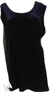 Womens purple vest top 18 sleeveless Kirsten Kreg