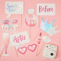 HEN PARTY PHOTO BOOTH PROPS -Accessories/Selfie/Game/Dress Up- BRIDE TRIBE RANGE
