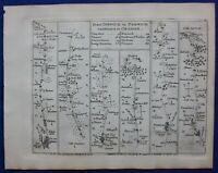 IPSWICH, NORWICH, CROMER, NORFOLK, Pl 81, antique road map, Jefferys, 1775