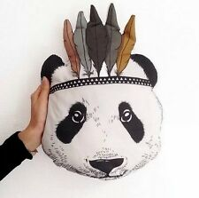Children Indian Cute Panda Pillow Kids Animal Baby Cushion Stuffed Toys Gift