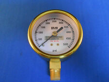 322AS-154-1 WESTON GAUGE 0-5000 PSI .25 NPT NEW OLD STOCK BRASS COLOR