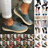Ladies Women Slip On Flat Sneakers Brogues Loafers Pumps Casual Comfort Shoes US