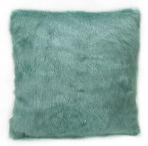 Fm851a Light Turquois Plain Long Faux Fur Cushion Cover/Pillow Case*Custom Size