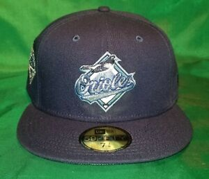 My Fitteds Exclusive Baltimore Orioles 25th Anniversary Patch Icy Blue UV 7 3/8