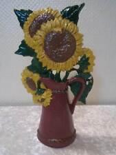 Gusseisen Türstopper Sonnenblumen - 2 kg - Antik-Look