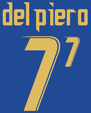 Italy Del Piero Nameset 2006 Shirt Soccer Number Letter Heat Print Football Home