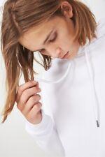 Factorie Mens Basic Hoodie Fleece Tops  In  White
