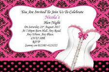 30 Personalised Hen Party ~ Night Invites ~Invitations HNPB Posted 1st Class