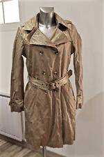 luxueux trench doré coton métal femme MARLBORO CLASSIS taille 42 fr 46 eu