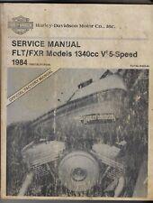 HARLEY FXR 1984 HARLEY DAVIDSON FLT FXR MODELS 1340cc 5 SPEED SERVICE MANUAL.IN