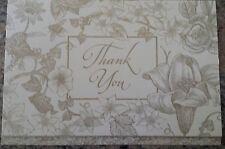 Bride & Groom Bridal Shower Wedding Botanical Thank You Notes w/Envelopes