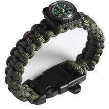 NEU Outdoor Survival Überleben Armband Pfeife Kompass Paracord