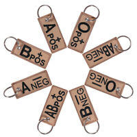 Bag Pendant Key Chain Embroidery Blood Type Keychains Keyring Weave Fabric