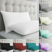 100% EGYPTIAN COTTON 200 THREAD COUNT PAIR OF HOUSEWIFE PILLOWCASES PILLOW CASES