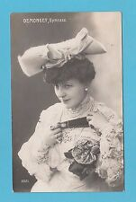 ACTRESS - ANONYMOUS  POSTCARD  -  ACTRESS  -  DEMONGEY  GYMNASE  -  1906