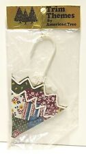 Vintage Christmas Patchwork Umbrella Ornament by American Trees - New In Package