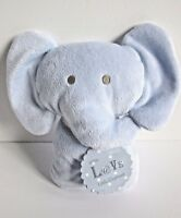 Marks Spencer With Love blue Little elephant baby soft toy plush comforter tag