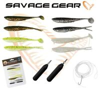 New Savage Gear Dropshot Finesse Kit 11Pcs Drop Shot Perch Lures Fishing Bait