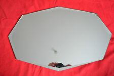 Miroir octogonal ancien à poser ou à suspendre (50cm x 32cm)