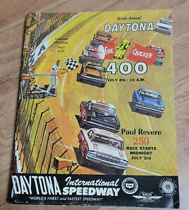 NASCAR 1967 Daytona Firecracker 400 Race Program Cale Yarborough