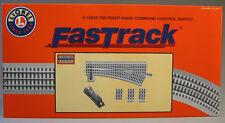 LIONEL FASTRACK 060 COMMAND CONTROL RH SWITCH o gauge train track 6-16829 NEW