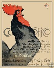 FRENCH ROOSTER Cocorico Magazine Cover Art Steinlen Paris Fine Art Print Poster