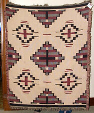 Blanket Sofa Throw Jacquard 2x Cotton Weave 4x5' Southwest  design Sedona