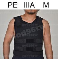New PE Bullet Proof Vest/Jacket Body Armor NIJ Level IIIA 3A 38 Layers M