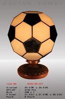 Tiffany Lampe Ball Sport Tiffanylampe Fußball Handball Tor schwarz weiß neu T93S