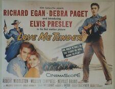 """""""LE CAVALIER DU CREPUSCULE (LOVE ME TENDER)""""Affiche U.S. entoil. Elvis PRESLEY"""