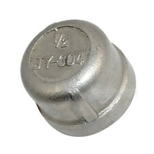 "Stainless steel Pipe fitting Cap 1/2"" threaded Type 304"