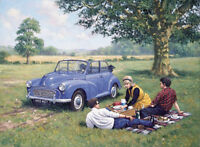 Morris Minor 1000 Convertible 1960s Picnic Blank Birthday Fathers Day Card