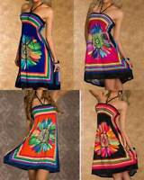 Summer Beach Halter party Mini Dress Ladies Clothes Size 10-16 12 14 16 10 Sexy