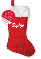 Personalised Christmas stocking your name kids childrens xmas cute santa sack