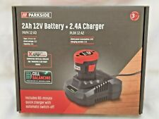 Parkside 12V Battery & Charger PAPK 12 A3 New Version Longer Life New Sealed