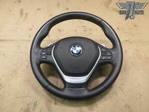 🥇14-16 BMW F30 F31 F32 F34 SPORT LEATHER STEERING WHEEL PADDLES SRS MODULE OEM