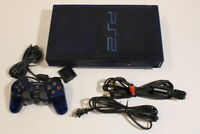 Sony PlayStation 2 PS2 Console SCPH-50000 Clear Blue Bundle Japan Import 2PC018M