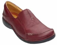 Clarks Women's Shoes Unstructured Un.Buckle Leather Slip On Loafer,Size 9.5W