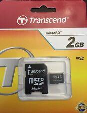 2GB Micro SD Speicherkarte Transcend ideal für Samsung, Nokia HTC etc.