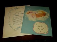1942 Nestle Foods  Babys Book In Unused Condition!