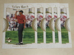 2001 Upper Deck #151 Victory March Tiger Woods Lot of 5