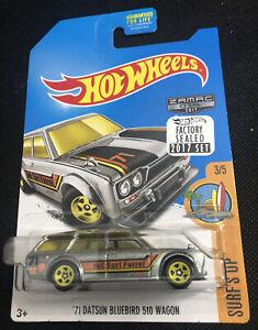 Hot Wheels '71 Datsun Bluebird 510 Wagon Factory Stickers Seal