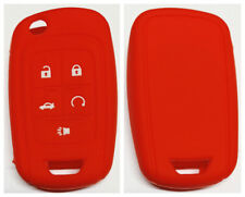 RED SILICONE 5 BUTTONS FLIP KEY COVER SUITS CHEVROLET HOLDEN VF COMMODORE